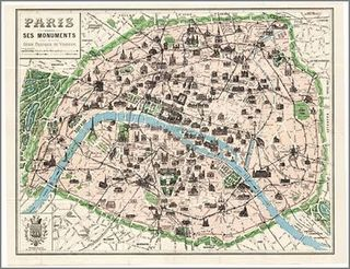 Paris map paper