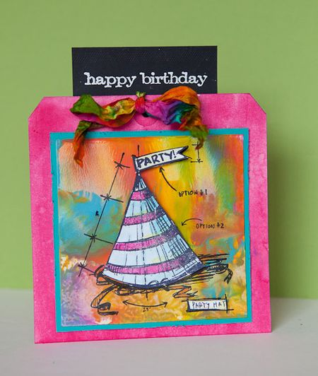 Party hat card cheironbrandon.typepad.com