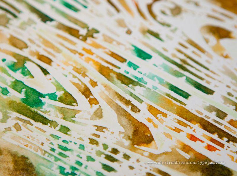 Monoprint Woodgrain by Cheiron Brandon_