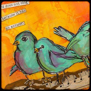 Scribbly Birds by Cheiron Brandon_