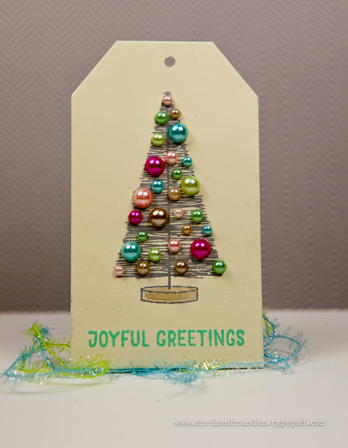 Joyful Greetings Tag by Cheiron Brandon