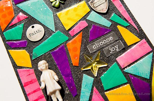 Cheiron choose joy mosaic closeup