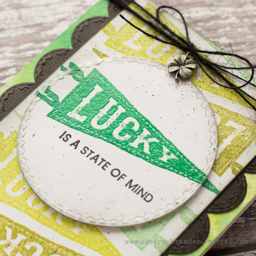 Tim holtz pennants lucky 2