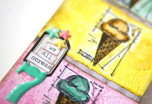 July Tim Tag We all Scream detail by Cheiron Brandon_
