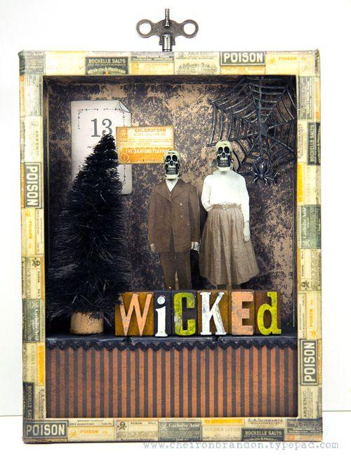 Wicked Spooky Shadow Box by Cheiron Brandon_