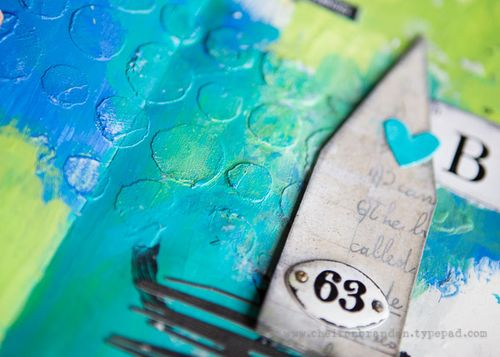 Cheiron- home you love art journal texture
