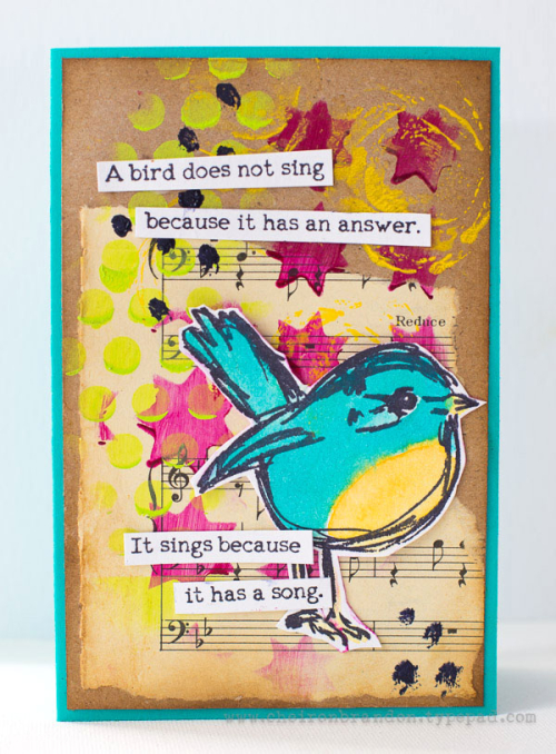 Cheiron- scribbly bird card_