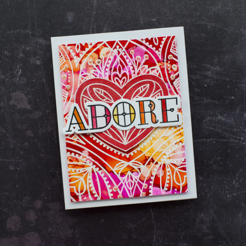 Cheiron stained glass love adore