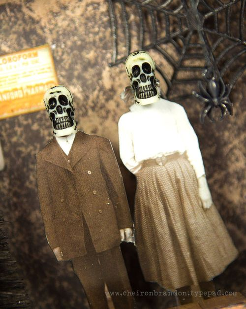 Wicked Spooky Shadow Box close 1 by Cheiron Brandon_