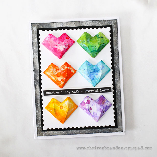Cheiron tim holtz faceted heart 1