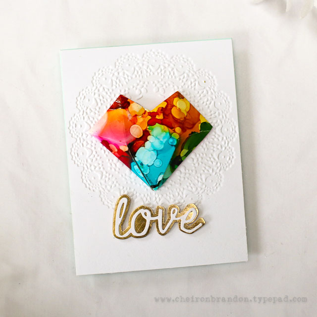 Cheiron tim holtz faceted heart 2
