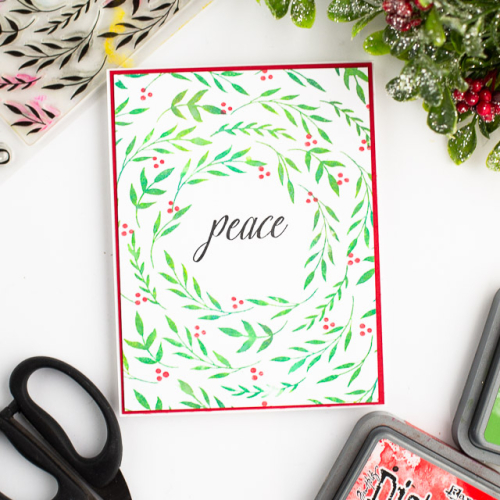 Foliage wreath peace_