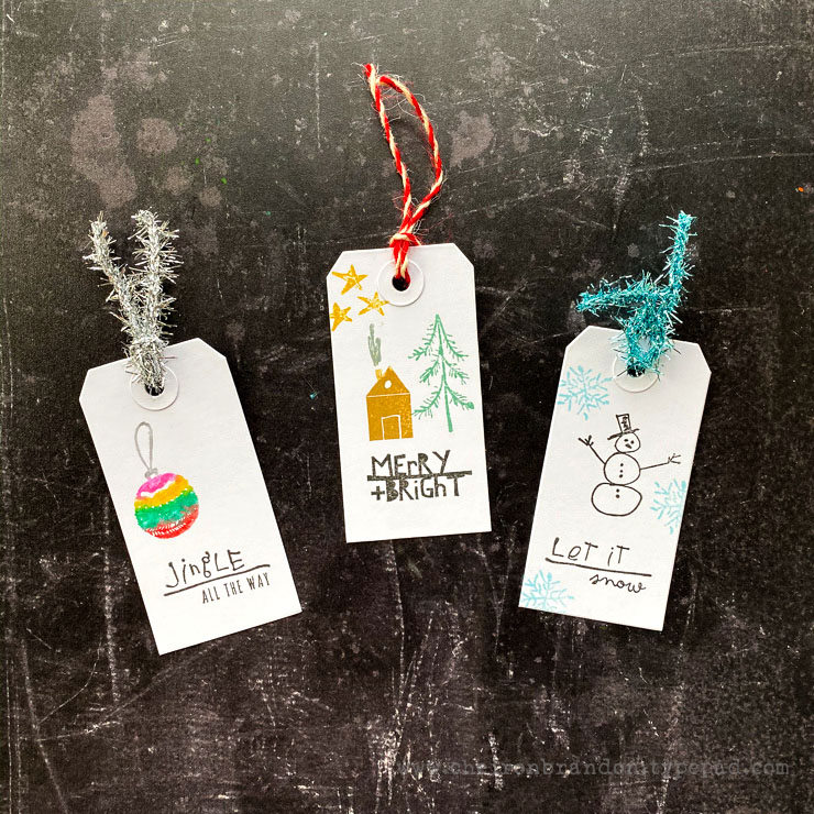 Cheiron seasonal scribbles tags