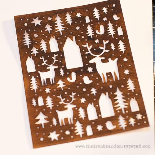 Cheiron nordic winter woodgrain plain